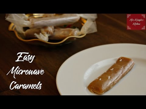 Caramels from the microwave?  No candy thermometer required!