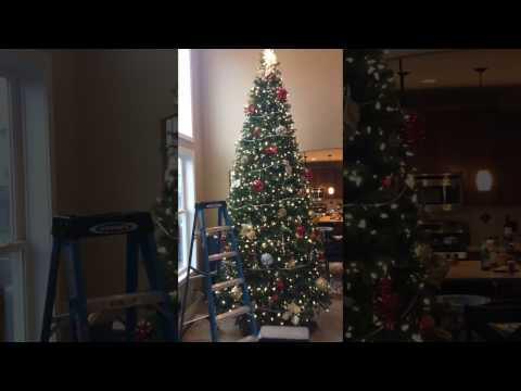 Decorating Ideas - 13 Foot Christmas Tree Time Lapse