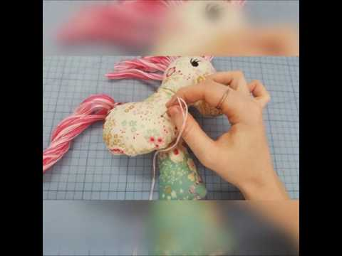Sienna the horse stuffed toy ITH in the hoop , machine embroidery