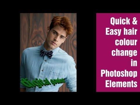 Learn Photoshop Elements - Hair Colour Change