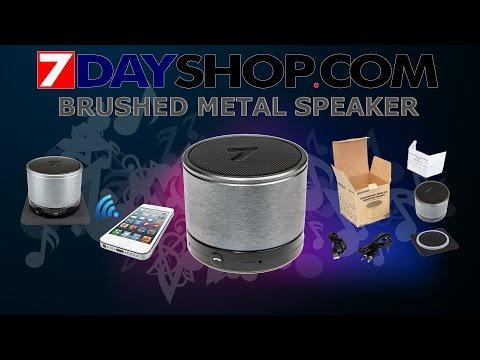 7DAYSHOP.COM - MAGIC TUBE PORTABLE BLUETOOTH SPEAKER & HANDSFREE - BRUSHED METAL
