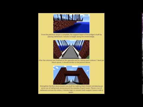 How to make the golden gate bridge minecraft