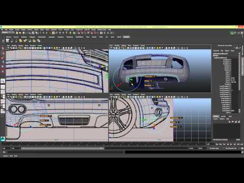 [TIMELAPSE] Modelling a Car in Maya Series 1 [P17]