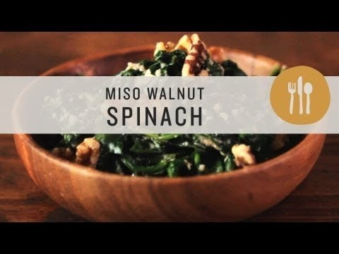 Miso Walnut Spinach