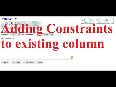 Adding constraints to existing columns