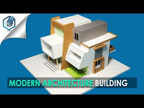 MODEL MAKING OF MODERN ARCHITECTURAL BUILDING #9