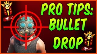 H1Z1 TIPS - HOW TO LEARN BULLET DROP IN H1Z1 KING OF THE KILL H1Z1 BULLET DROP SECRET HINTS AND TIPS