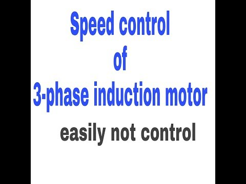 Speed control of induction motor electrical capsule