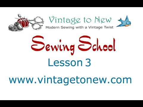 Sewing School Lesson 3 - Overcasting Raw Edges and Pressing a Seam Open