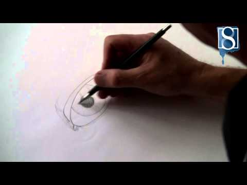 How to Draw a Female Eye step-by-step by Mark Bergin