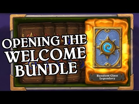 Opening the Welcome Bundle - Hearthstone