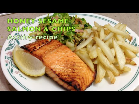 Honey Roasted Salmon and Chips cheekyricho Actifry Tutorial