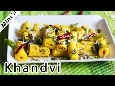 Khandvi Recipe   Gujrati Vegetarian Recipes