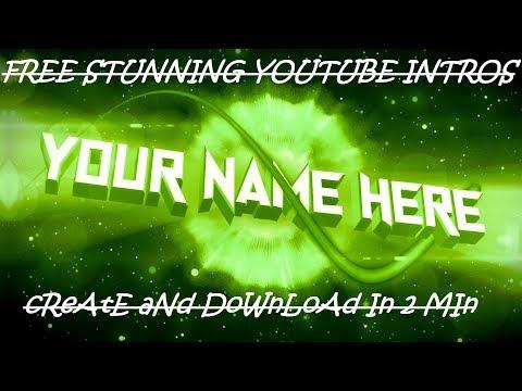 Free YouTube Intro Maker, Free Intro Maker -No Watermark 2017