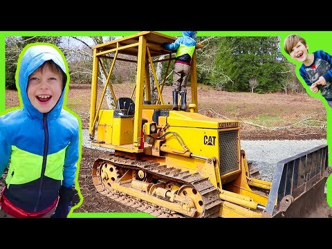 Bulldozer and a Well Drilling Truck!