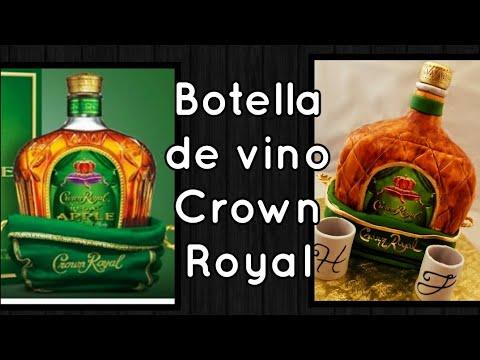 Crown Royal bottle/botella de vino Crown Royal 😊😊😎😄