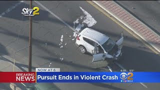 7 Injured -- 3 Critically-- Following Crash Involving Stolen Vehicle Suspect