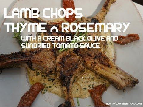 Grilled Lamb Chops with Rosemary n Thyme Recipe + Cream sauce