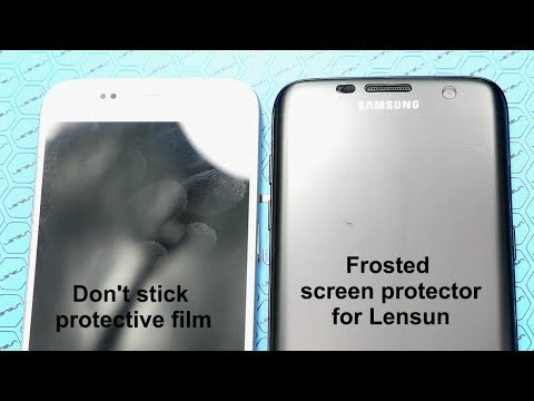 Lensun Anti-Fingerprint Matte Screen Protector VS Others