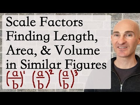 Scale Factors Finding Length, Area, Volume in Similar Figures