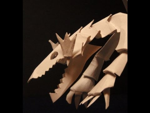 Blue-Eyes White Dragon of KiriOrigami paper craft