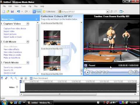 How to make a WWE Stop motion animation on Windows Movie Maker.