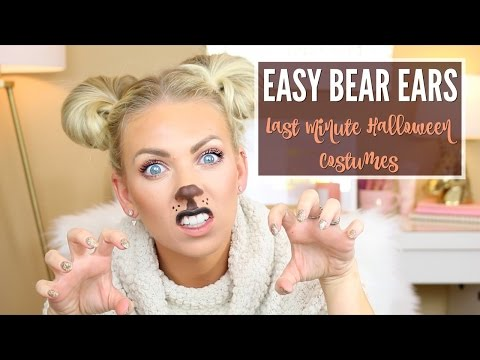 🐻 EASY BEAR EARS 🐻 | Last Minute Halloween Costumes | Vlogtober Day 22
