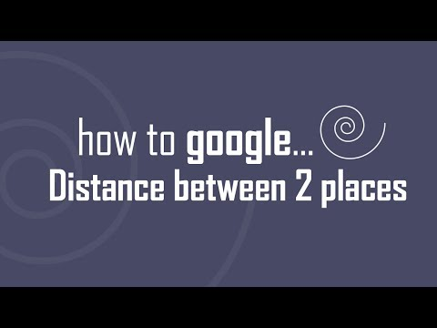 Google Search distance between two places