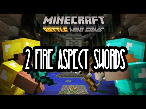 'TWO FIRE ASPECT STONE SWORDS IN A ROW' Minecraft Xbox Battle Mini-Games #1