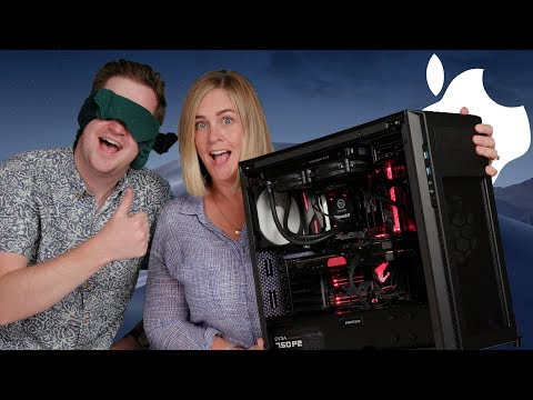 My Mom Builds Her First Hackintosh PC (While I'm Blindfolded)!