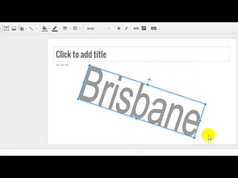 How to insert a wordart in Google slides