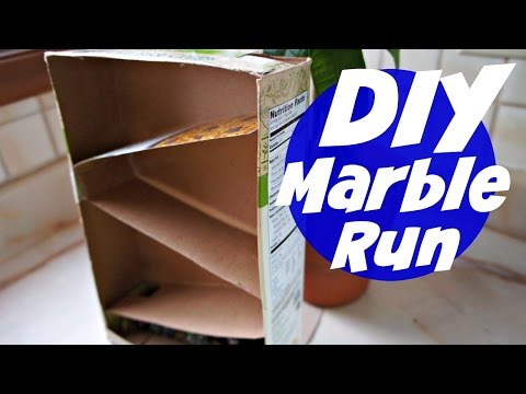 How to Make a Cereal Box Marble Run