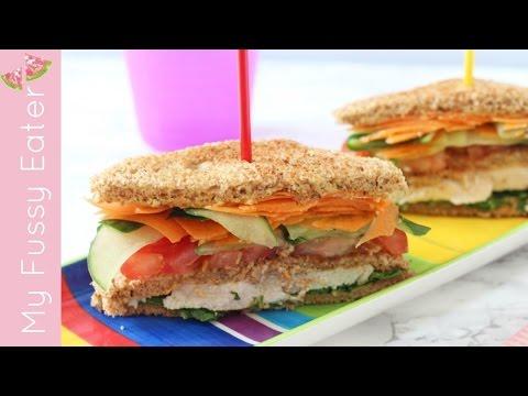 Healthy Club Sandwich for Kids | Lunchbox Recipe
