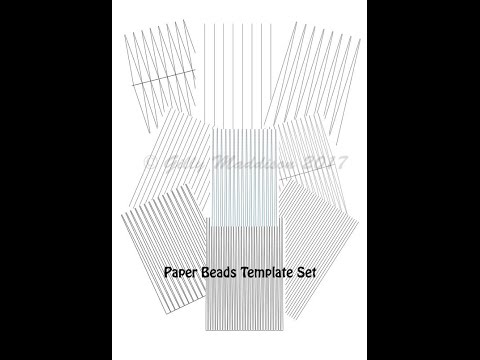 How To Use The Paper Bead Templates In My Etsy Shop