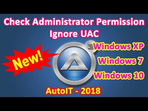 Check Administrator Permission in windows 10 with AutoIT