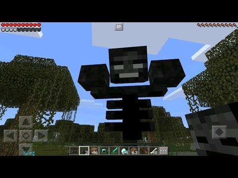 Minecraft PE - HOW TO SPAWN THE WITHER 0.15.0 - (Minecraft Pocket Edition)