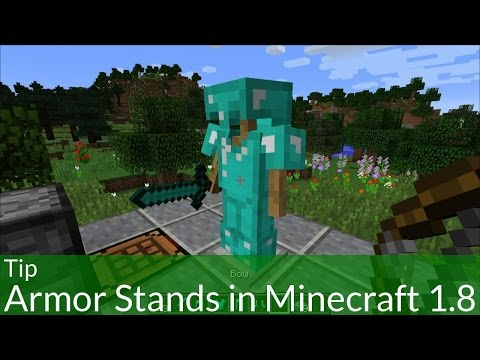 Tip: How to Make and Use Armor Stands in Minecraft 1.8