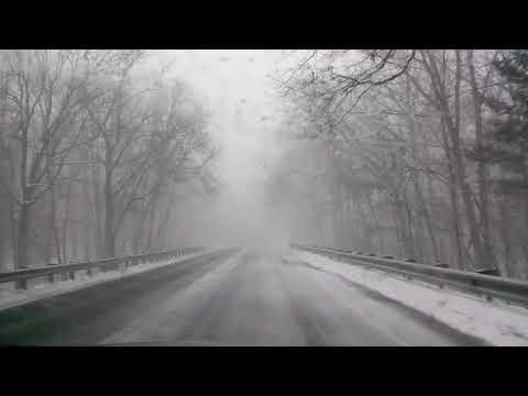 Driving thur a blizzard in Michigan