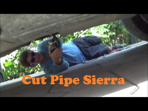 GMC Sierra Cut Pipe Exhaust