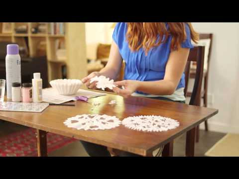 How to Make Snow Flakes from Coffee Filters | Voice Instructions