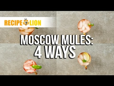 Moscow Mules 4 Ways