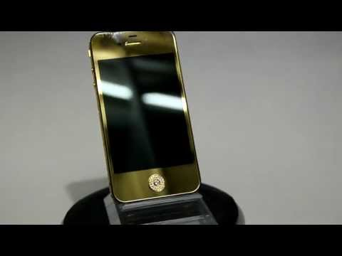Swarovski Crystal  Gold color  iPhone 4 4S