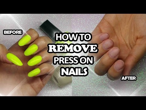 How to remove press on nails | Lorna Andrews ♥