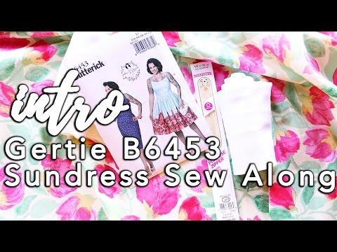 Gertie B6453 Sundress Sew Along, Intro!   Vintage on Tap
