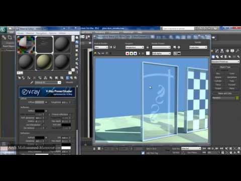 how to make Sandblasted Glass in 3ds Max