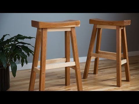 Woodworking: How To Build A Saddle Bar Stool
