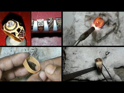 How is Made Men's Ring 22 kt Gold Hallmark 916