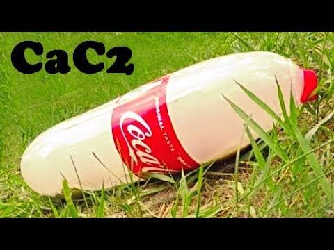 Amazing Coca Cola Science Experiments. Coca-Cola vs Calcium Carbide