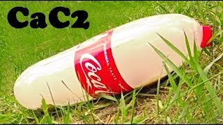 Science Experiments with Coca-Cola and Calcium Carbide. Fatal Explosion!