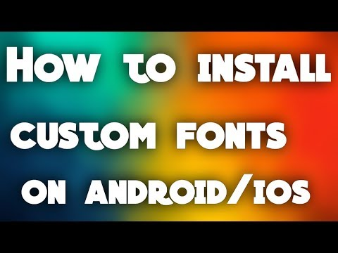 how to install custom fonts on android /ios